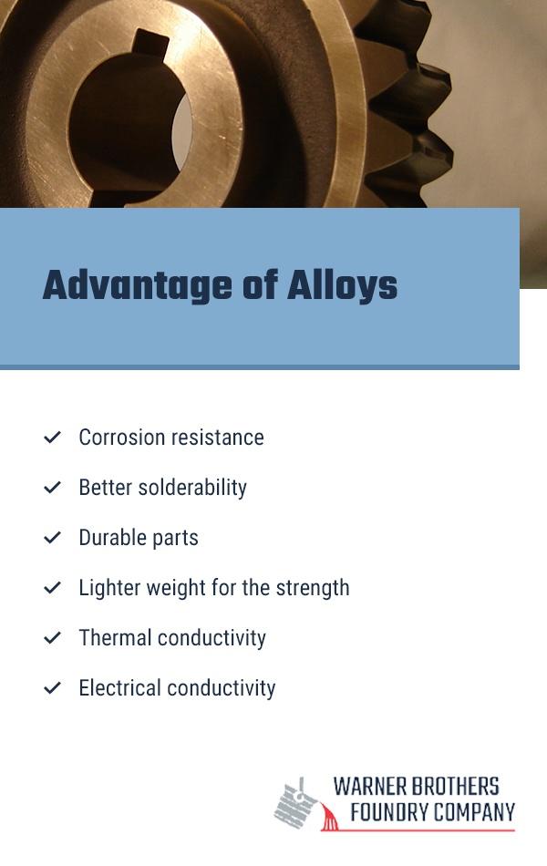 Advantage of Alloys
